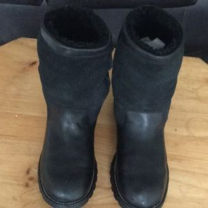 Ugg Australia brooks black leather sheepskin